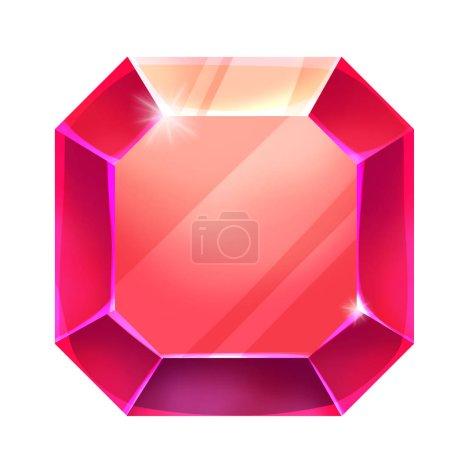 Foto de Close up view of red gem illustration - Imagen libre de derechos