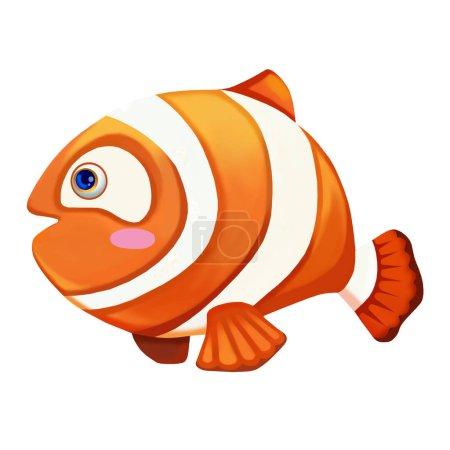 Photo pour Vue rapprochée de mignon poisson lumineux illustration - image libre de droit