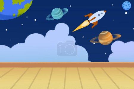 Photo pour Vue rapprochée de Space Room illustration - image libre de droit