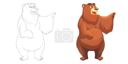Photo for Cute illustration of bear isolated on white background - Royalty Free Image