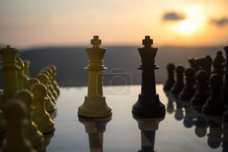 Chess board game concept of business ideas and com...