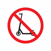 Vector flat simple no scooter road sign