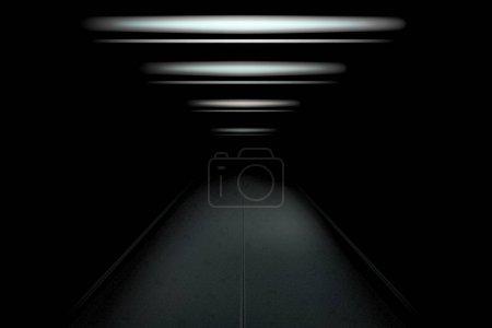 tunnel sombre et vide