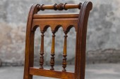 Vintage Oak antique Chair with Rattan Webbing