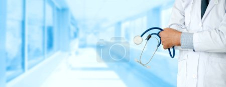 Photo for Senior male doctor working at the hospital. Medical healthcare and doctor staff service. - Royalty Free Image