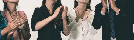 Photo pour Gens d'affaires applaudir dans une réunion d'affaires. Concept de prix de conférence et présentation. - image libre de droit